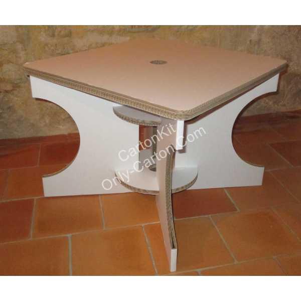 table basse en carton mobilier en carton. Black Bedroom Furniture Sets. Home Design Ideas