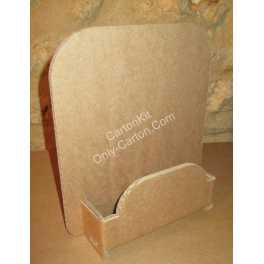 Présentoir en carton de comptoir 1 bac pour format A5