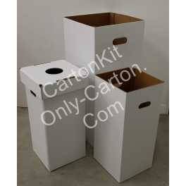 Poubelle - Corbeille en Carton 28 cm