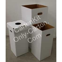 Poubelle - Corbeille en Carton 80   cm