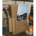 Présentoir en carton triangle de comptoir pour flyers