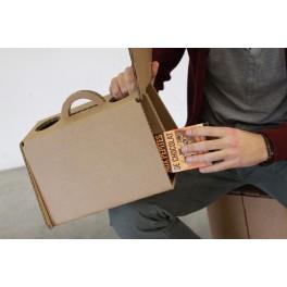 Siège-Tabouret-valise  polyvalent en Carton pour événement