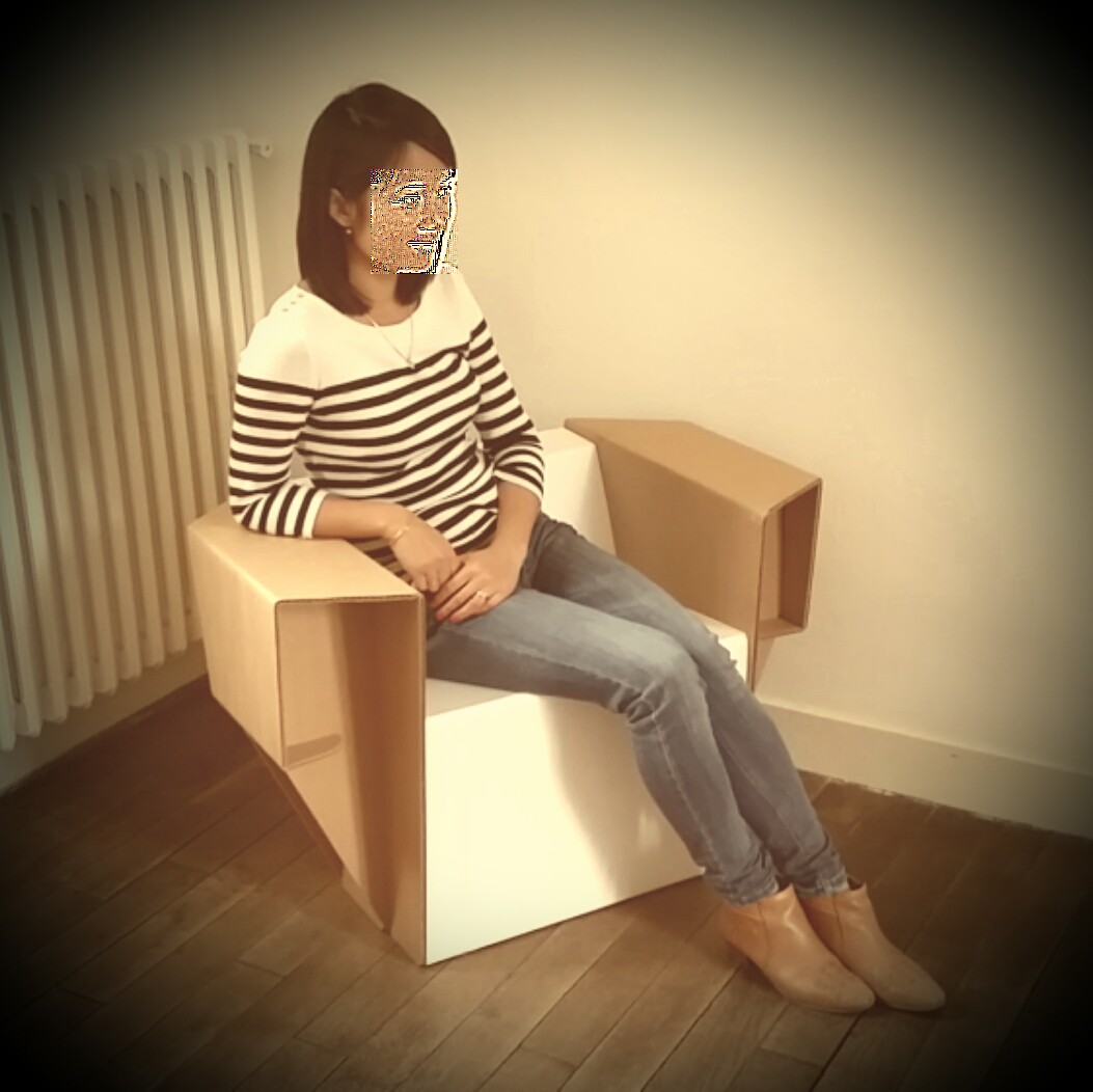 fauteuil carton