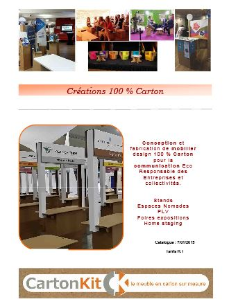 Catalogue Mobilier Stand Carton