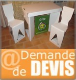 Demande devis meubles en carton